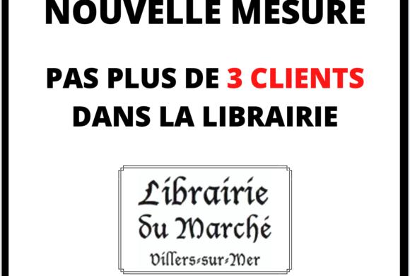 Pas plus de 3 clients dans la Librairie pendant la crise sanitaire